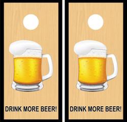 Drink More Beer Mug Cornhole Wraps