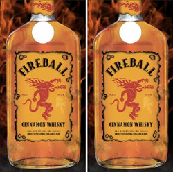 Fireball Cornhole Wraps