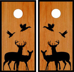 Deer and Ducks Classic Cornhole Wraps