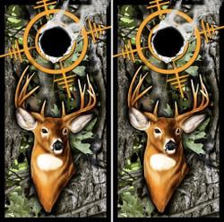 Deer Target Cornhole Wraps