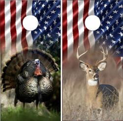 American Hunting Cornhole Wraps