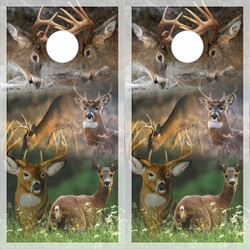 Deer Collage Cornhole Wraps