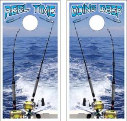 Deep Sea Fishing Cornhole Wraps