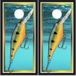Fishing Lure Cornhole Wraps