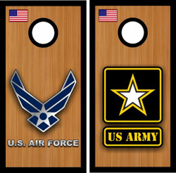 Air Force & Army Cornhole Wraps