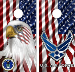 American Air Force Cornhole Wraps