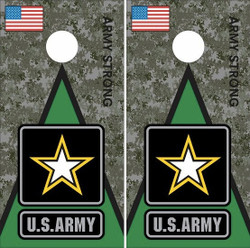 Army Strong Cornhole Wraps