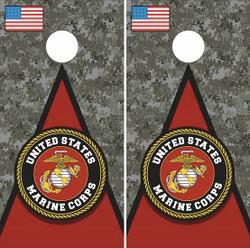 US Marine Corps Cornhole Wraps