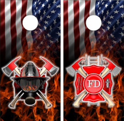 American Firefighter Cornhole Wraps