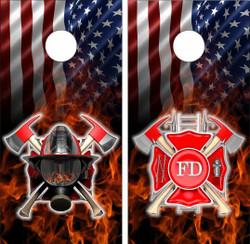 American Firefighter Cornhole Wraps