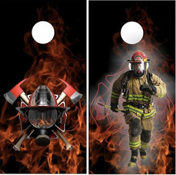 Fire Rescue Cornhole Wraps