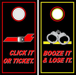 Click It Or Ticket Cornhole Wraps