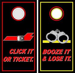 Click It Or Ticket Cornhole Wraps