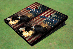 American Bald Eagle Cornhole Set with Bags