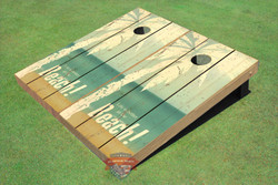 Beach Life Cornhole Set with Bags
