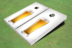 Beer Glass Cornhole Set with Bags