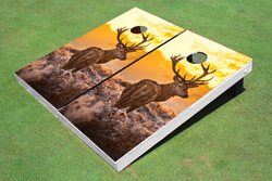 Deer Sunrise Cornhole Set with Bags