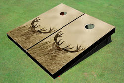 Deer Tall Grass Cornhole Set with Bags
