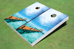 Paradise Dock Cornhole Set with Bags