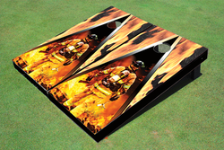 Fire Fighter Triangle Cornhole Set with Bags