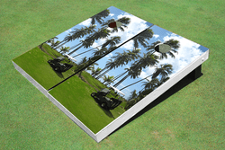 Golf Palm Trees Cornhole Set with Bags