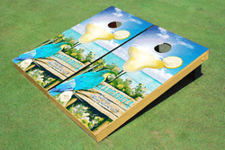 Margarita Glass Cornhole Set with Bags