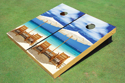 Wonderful Beach Cornhole Set with Bags