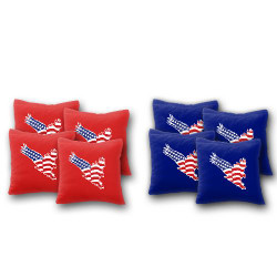 USA Flag in Eagle Cornhole Bags - Set of 8