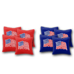 Wavy USA Flag Cornhole Bags - Set of 8