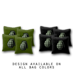 Grenade Cornhole Bags - Set of 8