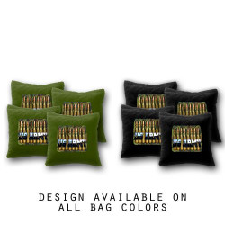 US Army with Bullets Cornhole Bags - Set of 8