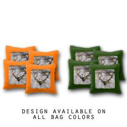 Deer Head Cornhole Bags - Set of 8