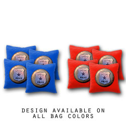 Police Cornhole Bags - Set of 8