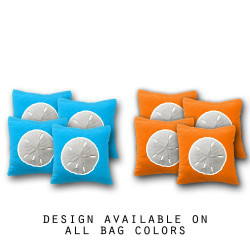 Sand Dollar Cornhole Bags - Set of 8