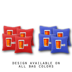 Beers to You Cornhole Bags - Set of 8