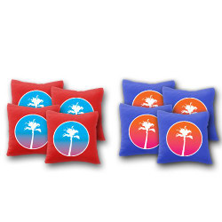 Sunset Palm Trees Cornhole Bags - Set of 8