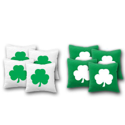 Shamrock Cornhole Bags - Set of 8