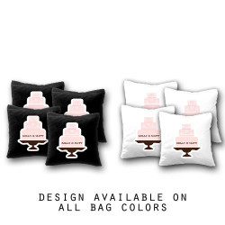 Custom Wedding Cake Cornhole Bags - Set of 8