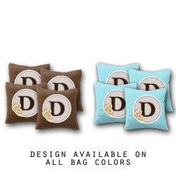 Custom Wedding Badge Monogram Cornhole Bags - Set of 8
