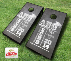 Graduation Chalk Board Cornhole Set with Bags