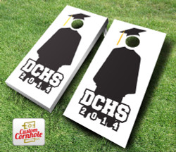 Graduation Cap and Gown Cornhole Set with Bags