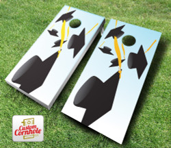 Graduation Falling Cap Cornhole Set with Bags
