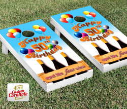 50th Birthday Cornhole Set with Bags