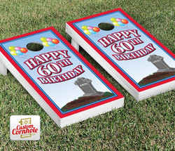 60th Birthday Cornhole Set with Bags