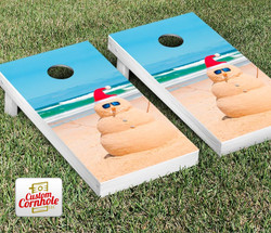 Beach Snowman Cornhole Set with Bags