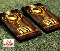 Worlds Best Dad Cornhole Set with Bags