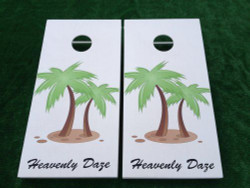 Personalized Palm Tree Cornhole Set with Bags
