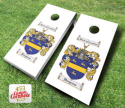 Family Crest Cornhole Set with Bags