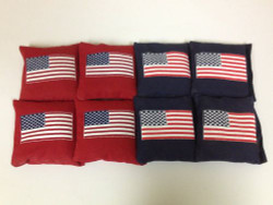 USA Flag Cornhole Bags - Set of 8