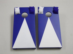 Navy Blue Pyramid Tabletop Cornhole Set with Bags